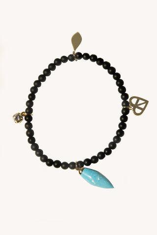 Rebecca Minkoff Turquoise Drop Beaded Stretch Bracelet  - Size: Female
