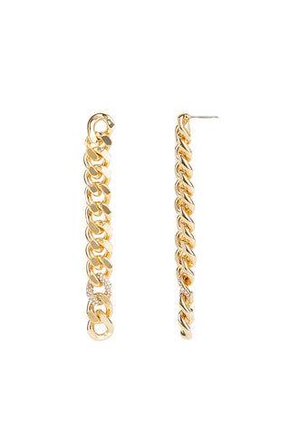 Rebecca Minkoff Pave Links Linear Earrings  - Size: Female