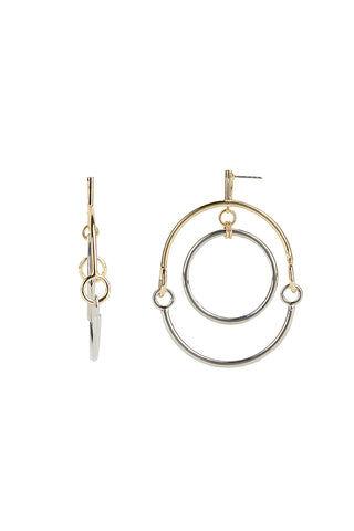 Rebecca Minkoff Interlocking Ring Orbit Earrings  - Size: Female