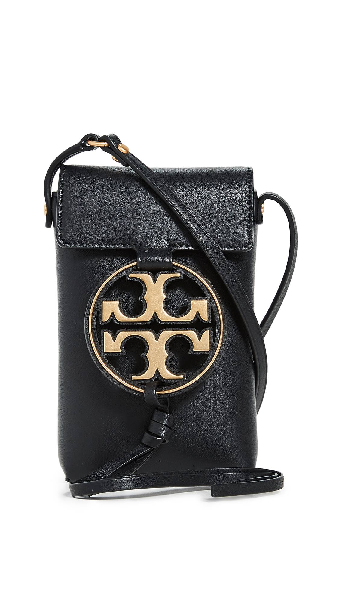 Tory Burch Miller Metal Phone Crossbody  - Black - Size: One Size
