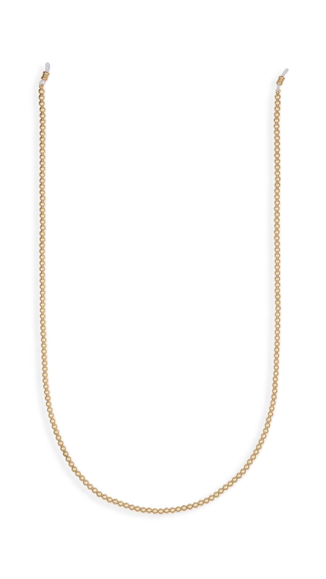 Alexa Leigh 4mm Ball Sunglass Chain  - Yellow Gold - Size: One Size