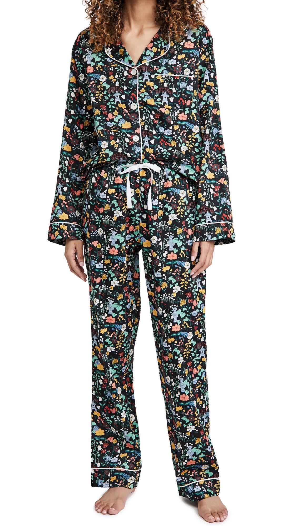 BedHead Pajamas Artist's Garden Classic Classic PJ Set  - Artist'S Garden - Size: Extra Large