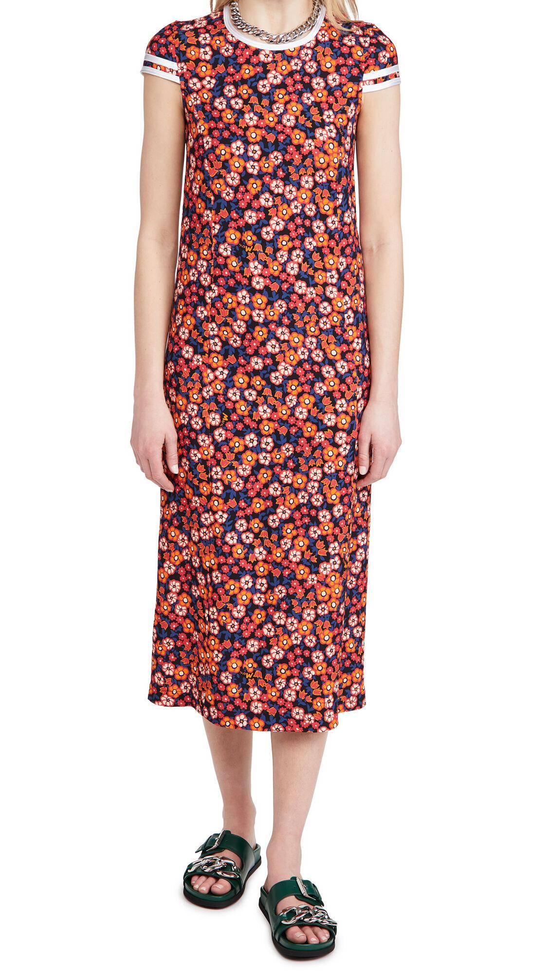 Marni Short Sleeve Dress  - Pop Garden Print - Size: 40