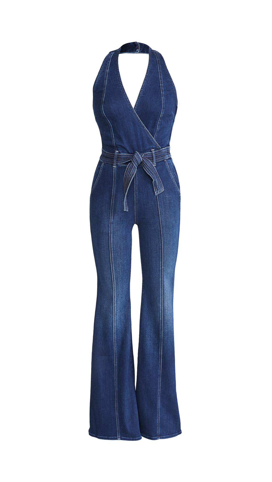 MOTHER The Halter Doozy Jumpsuit  - Home Movies - Size: 30