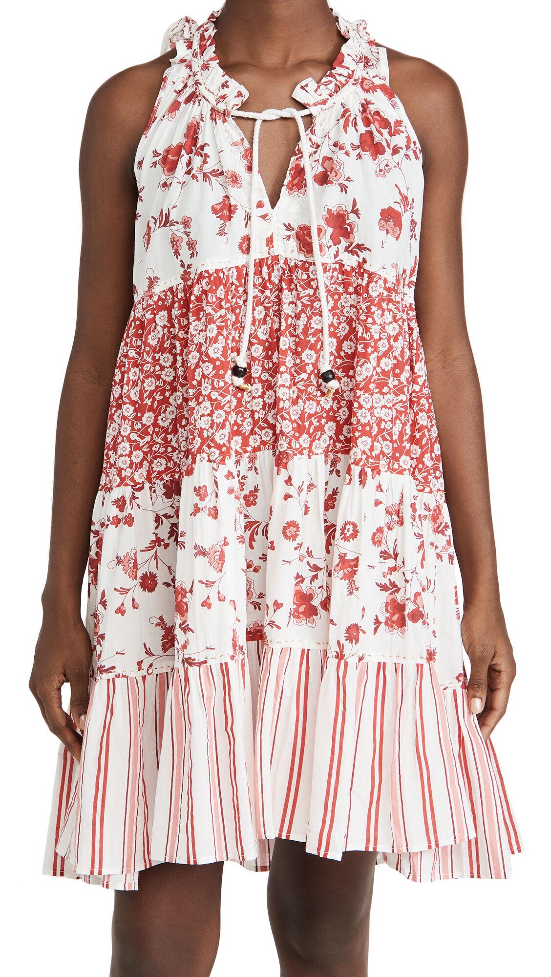 Ro's Garden Sofia Short Dress  - Provence Red - Size: Medium
