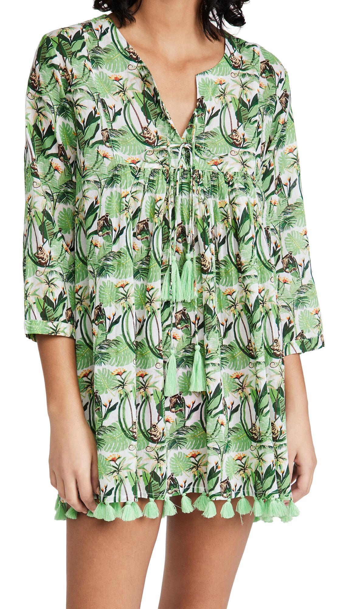 Ro's Garden Seychelles Tunic  - Naolin Green - Size: Medium