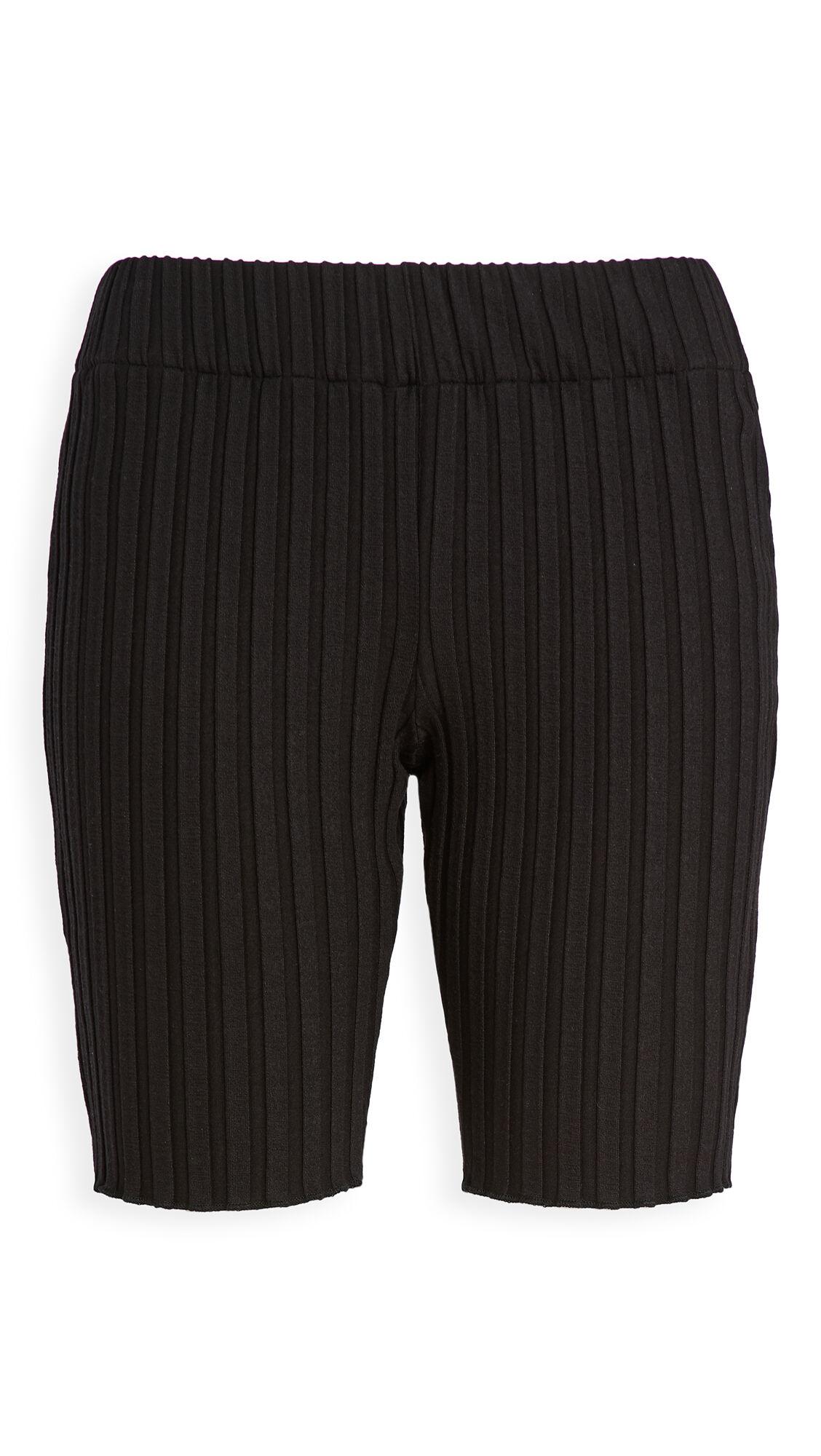 Simon Miller Burr Bike Shorts  - Black - Size: Large