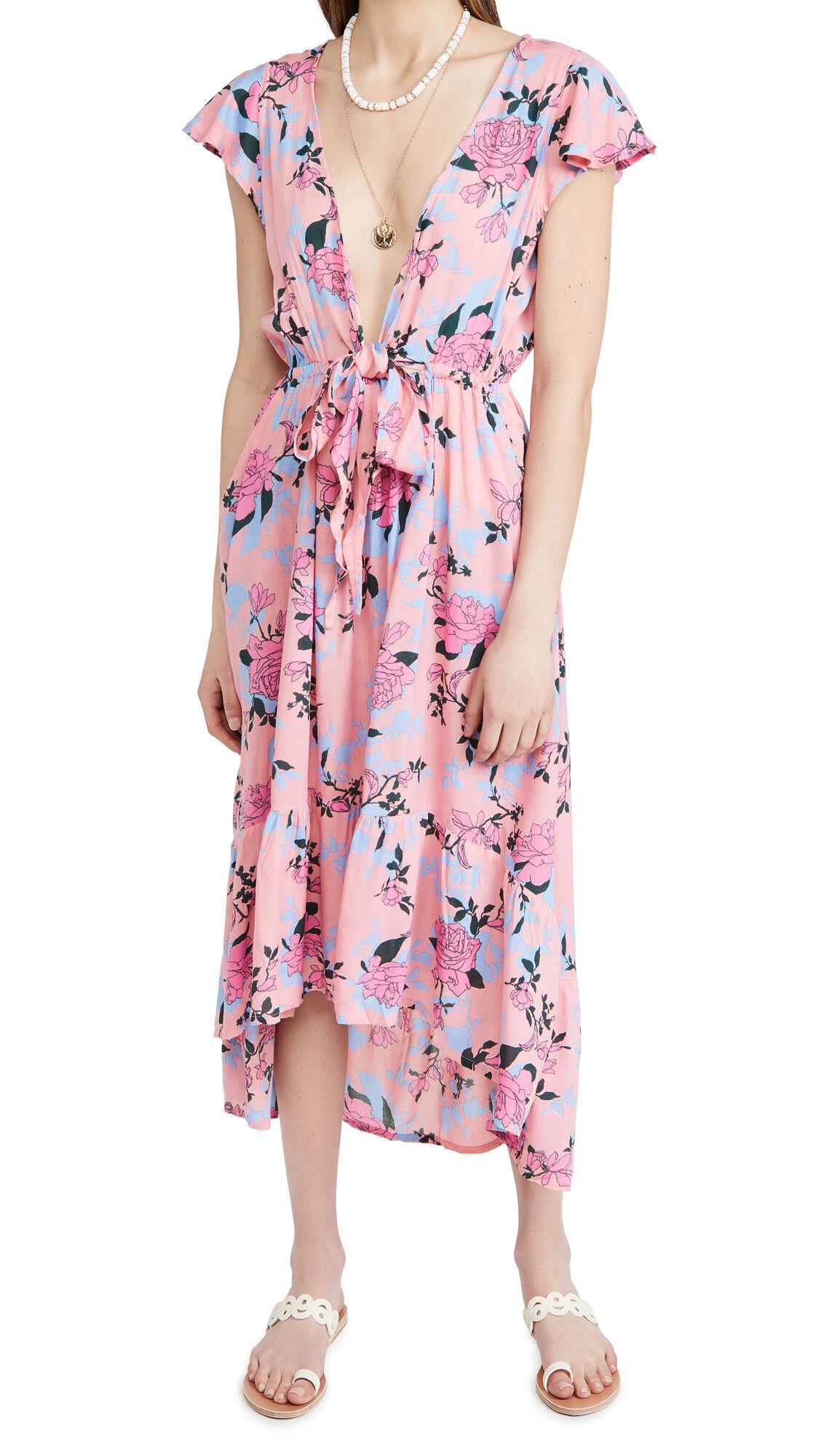 TIARE HAWAII Blake Maxi Dress  - Secret Garden Pink - Size: One Size