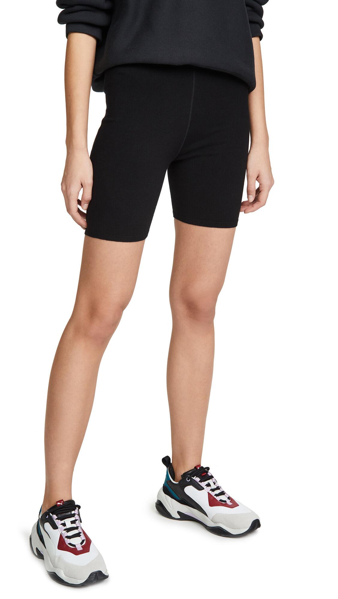 alexanderwang.t Foundation Bodycon Bike Shorts  - Black - Size: Large