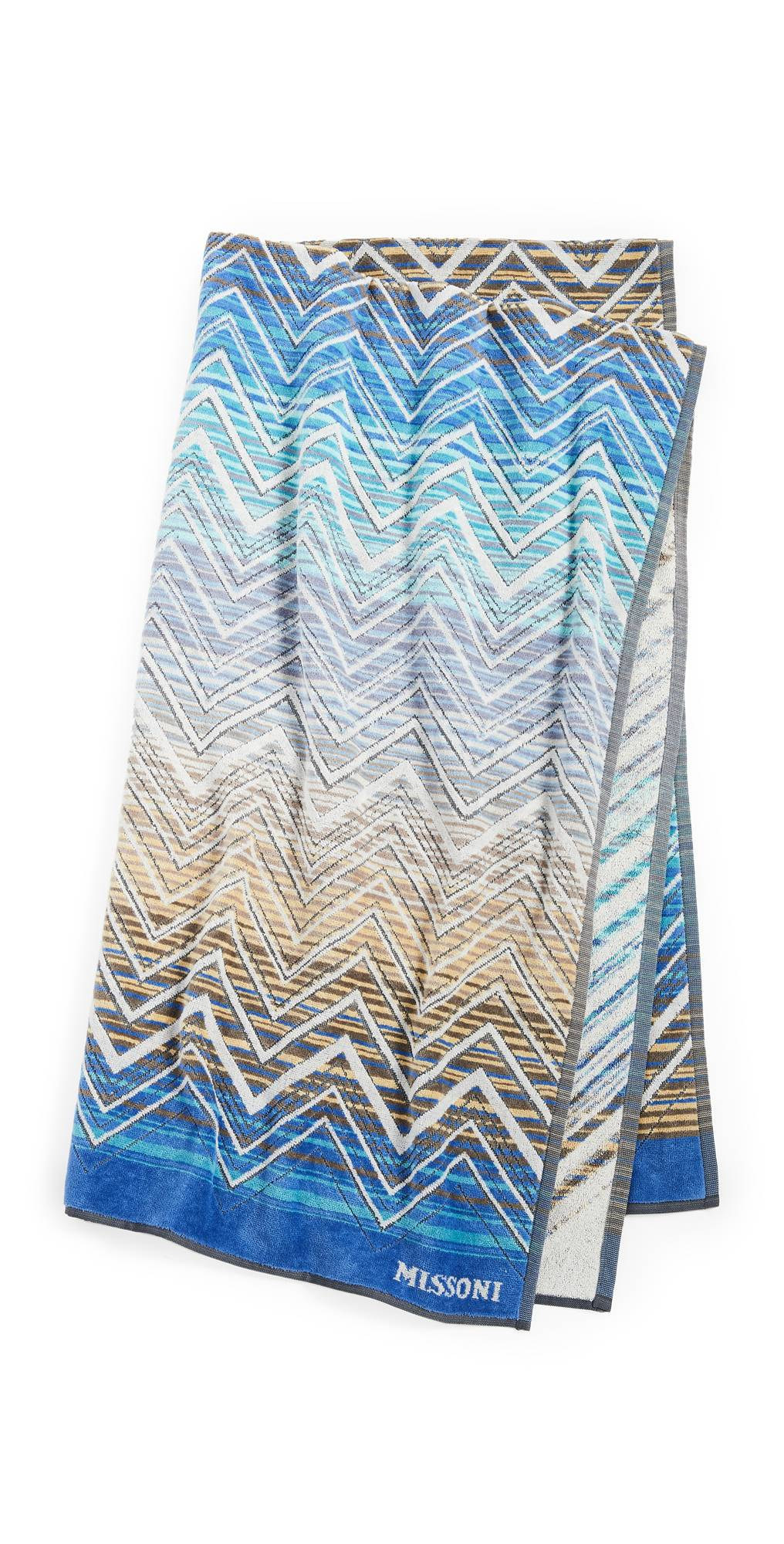Missoni Home Tolomeo Beach Towel  - Multi Blue - Size: One Size