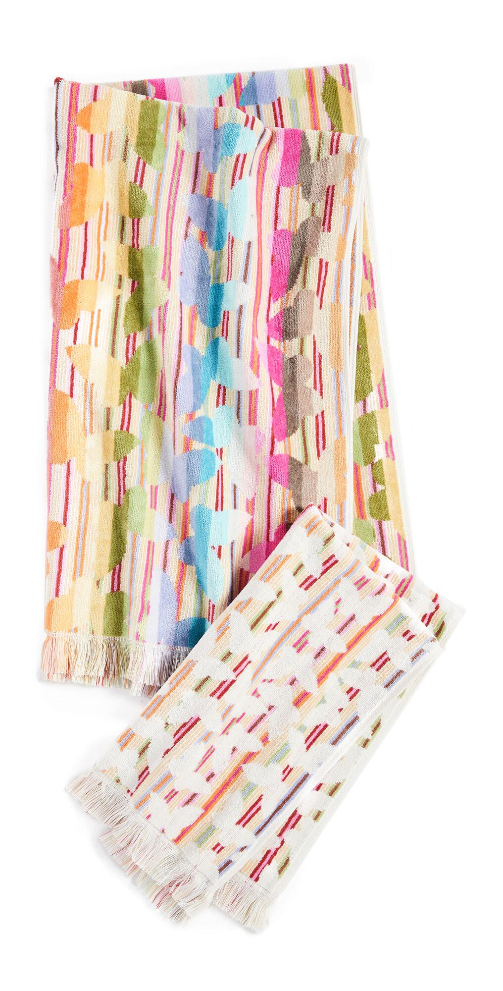 Missoni Home Josephine 2 Piece Towel Set  - Multi Pink - Size: One Size