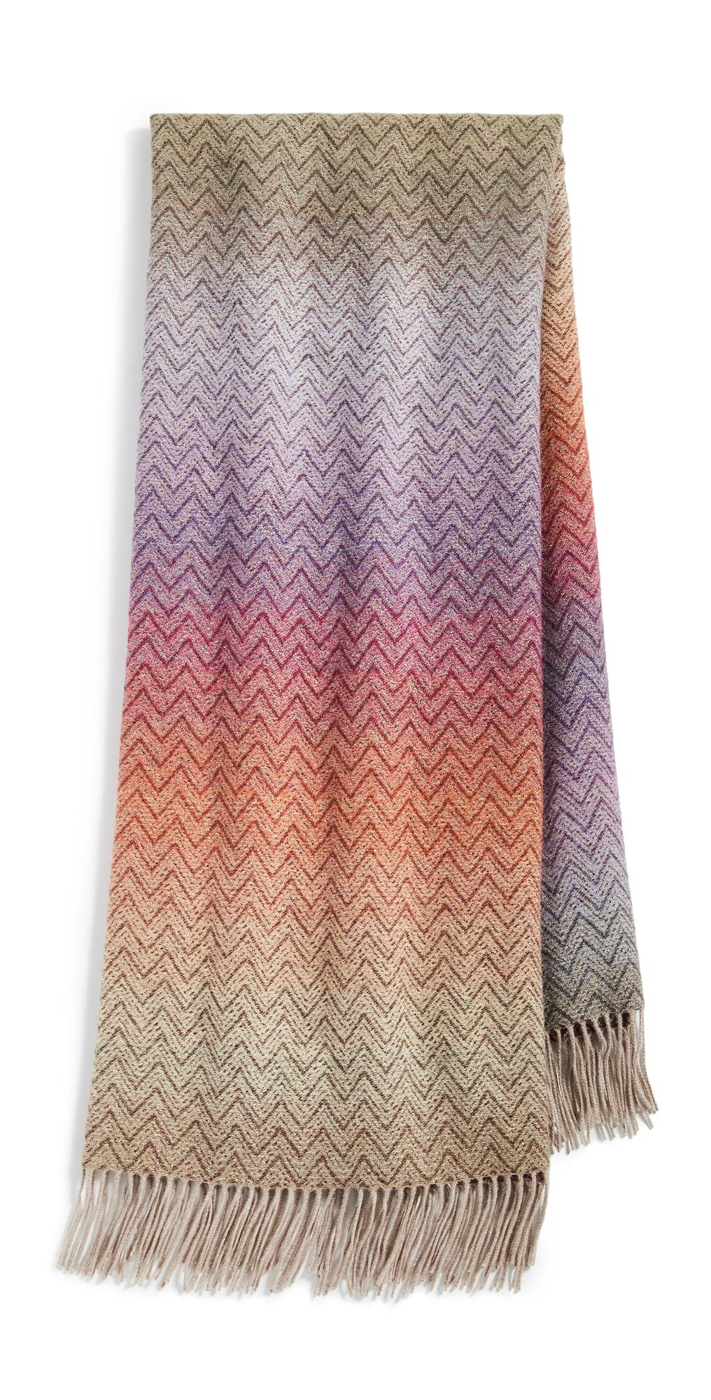 Missoni Home Pascal Throw Blanket  - Multi Red - Size: One Size