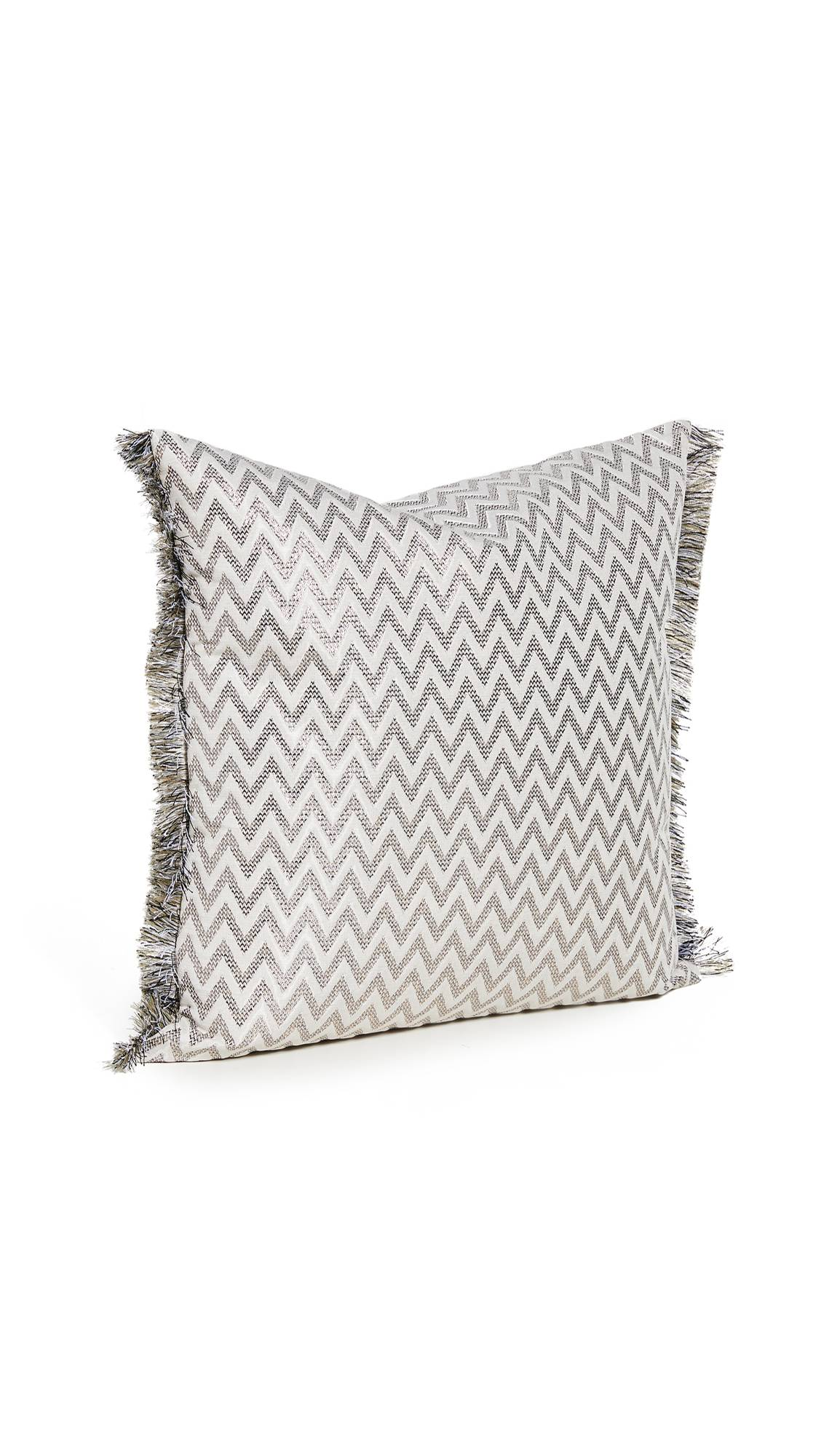 Missoni Home Stanford Cushion- 16x16  - White/Silver - Size: One Size
