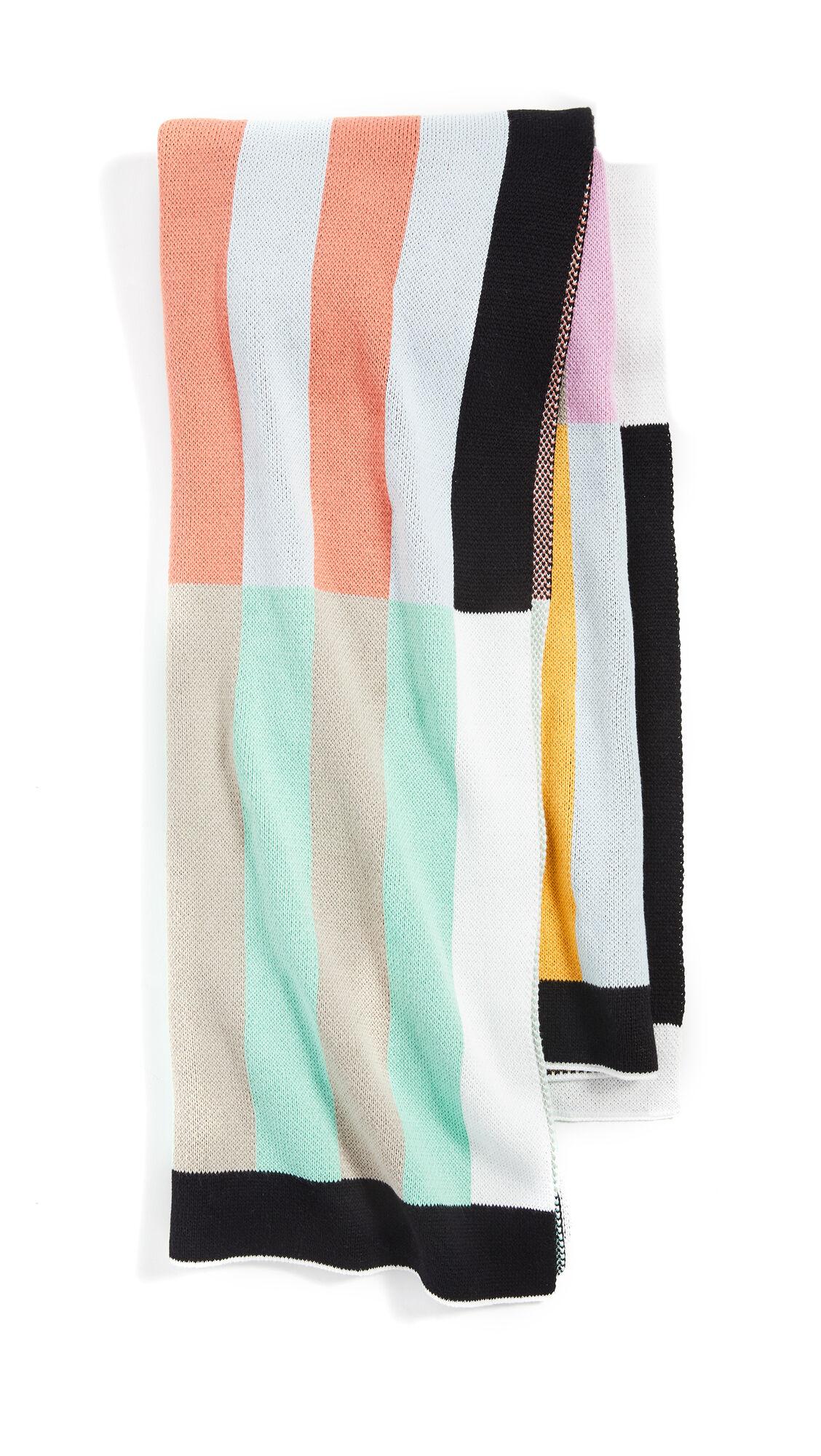 Shopbop Home Shopbop @Home Dusen Dusen Knit Throw  - Multi Stripe - Size: One Size