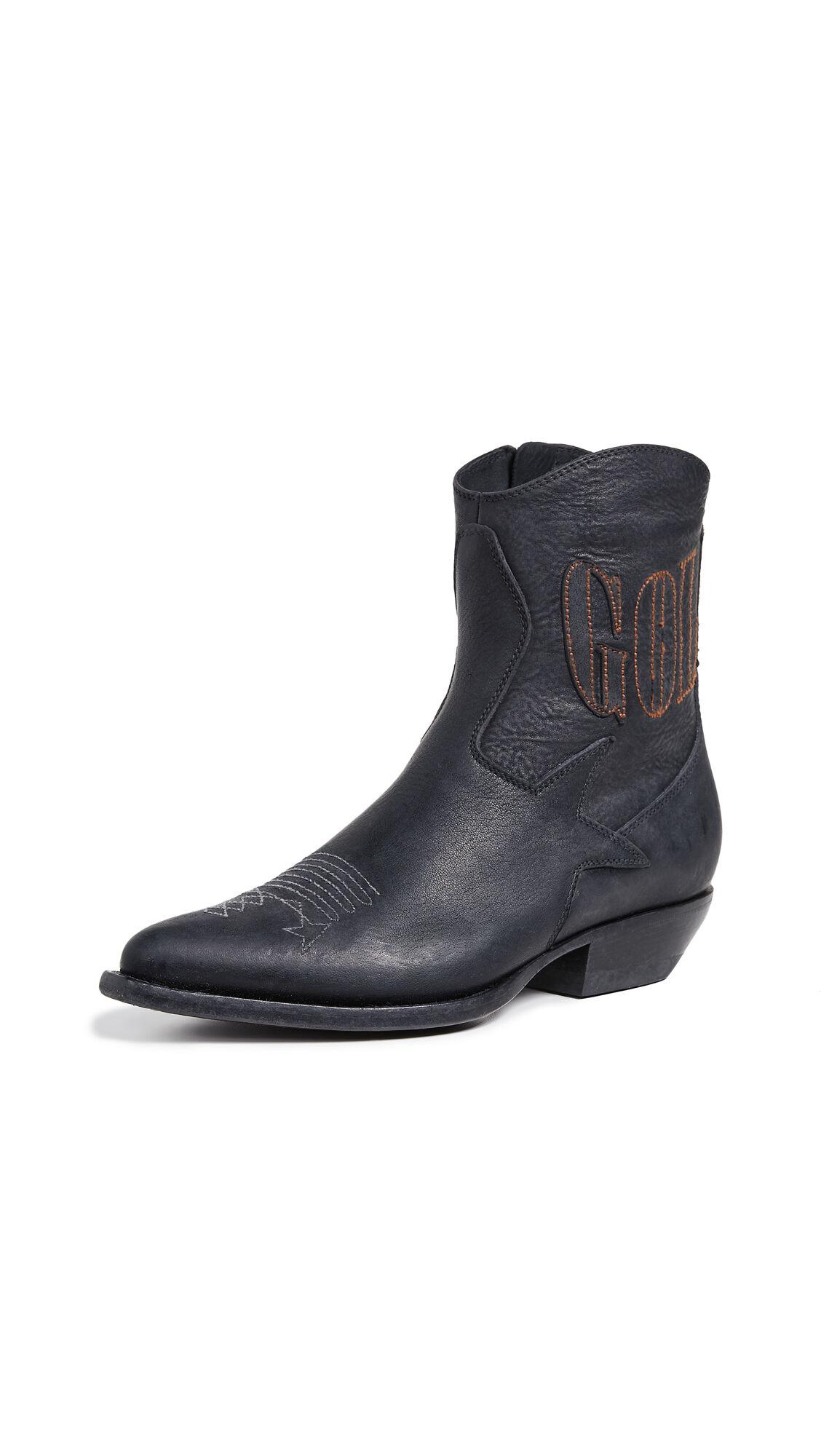 Golden Goose Courtney Boots  - Black Bike - Size: 37