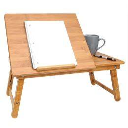 OCM Home Basics Bamboo Laptop Tray with Pull-out Drawer  - unisex - Multicolor