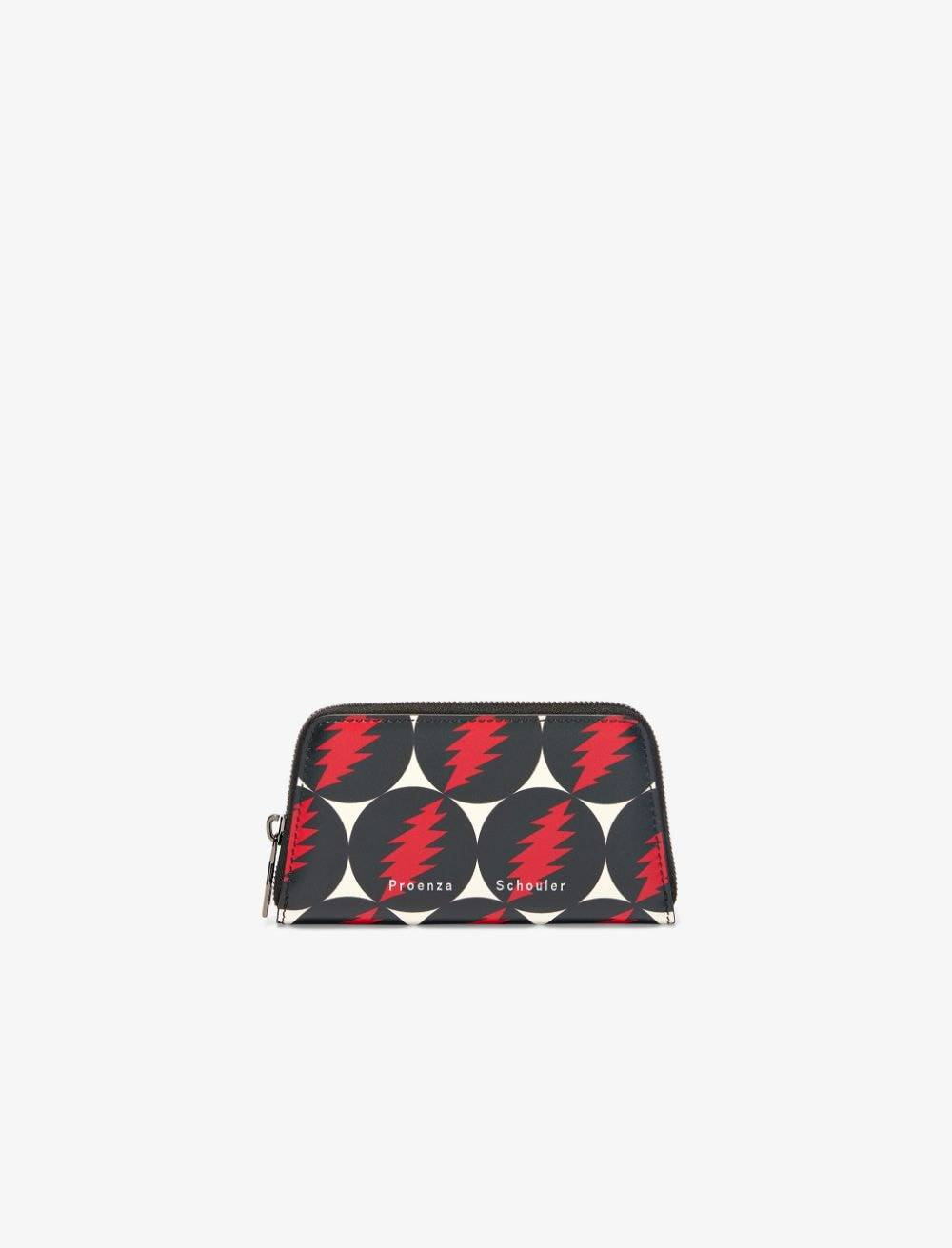 Proenza Schouler x Grateful Dead trapeze compact wallet grateful dead print/multicolour One Size