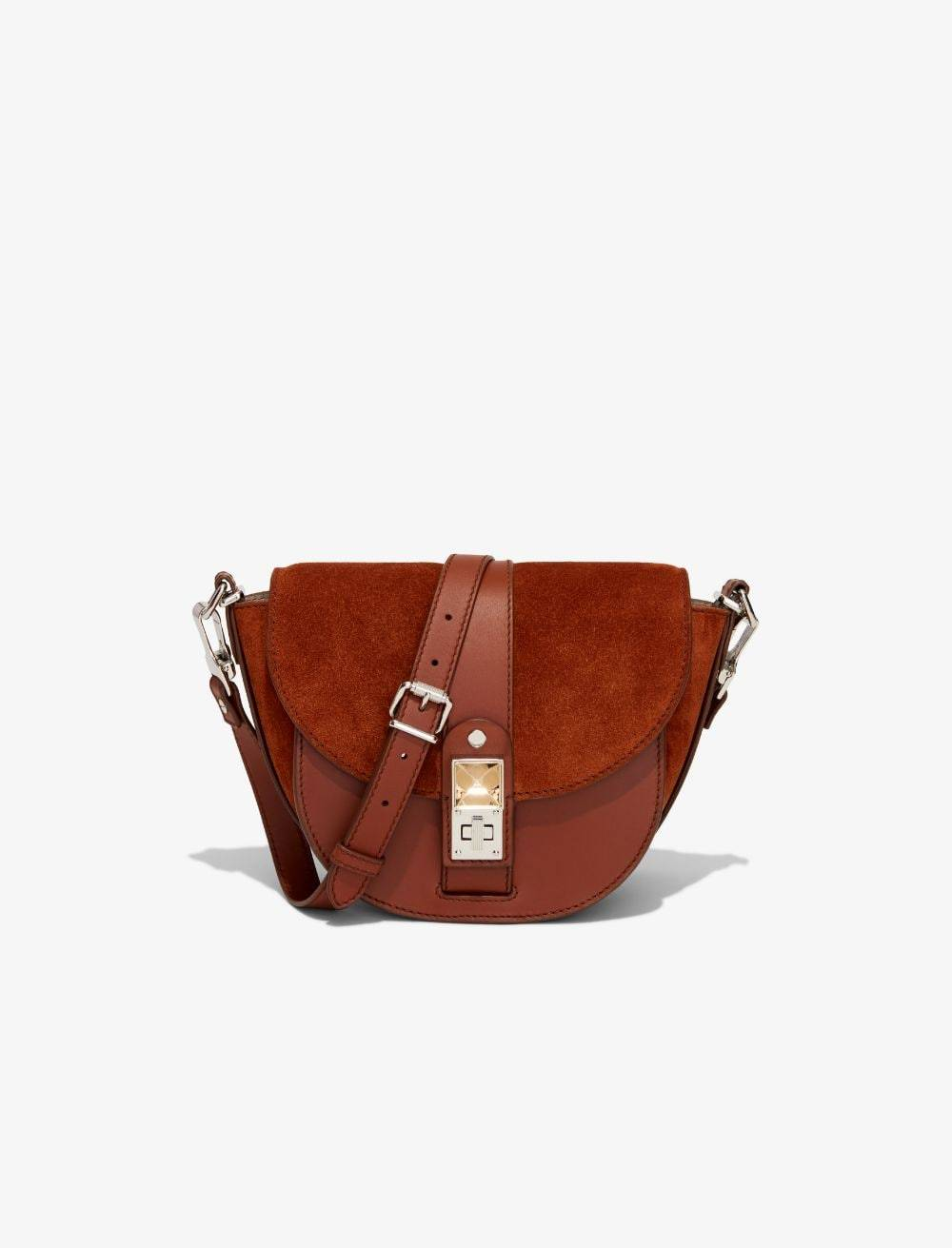 Proenza Schouler PS11 Small Saddle Bag chocolate/brown One Size