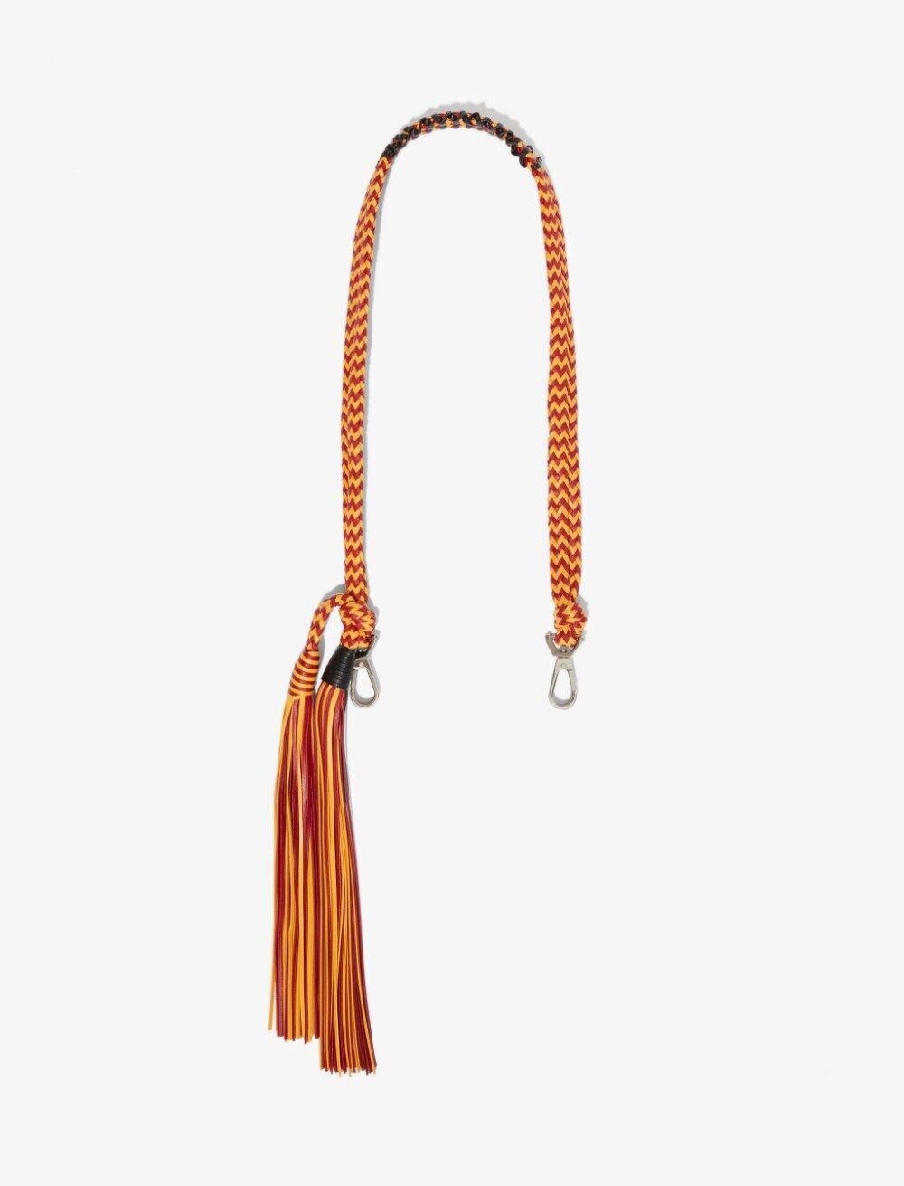 Proenza Schouler Woven Cording Strap lemon chrome/rust/yellow One Size