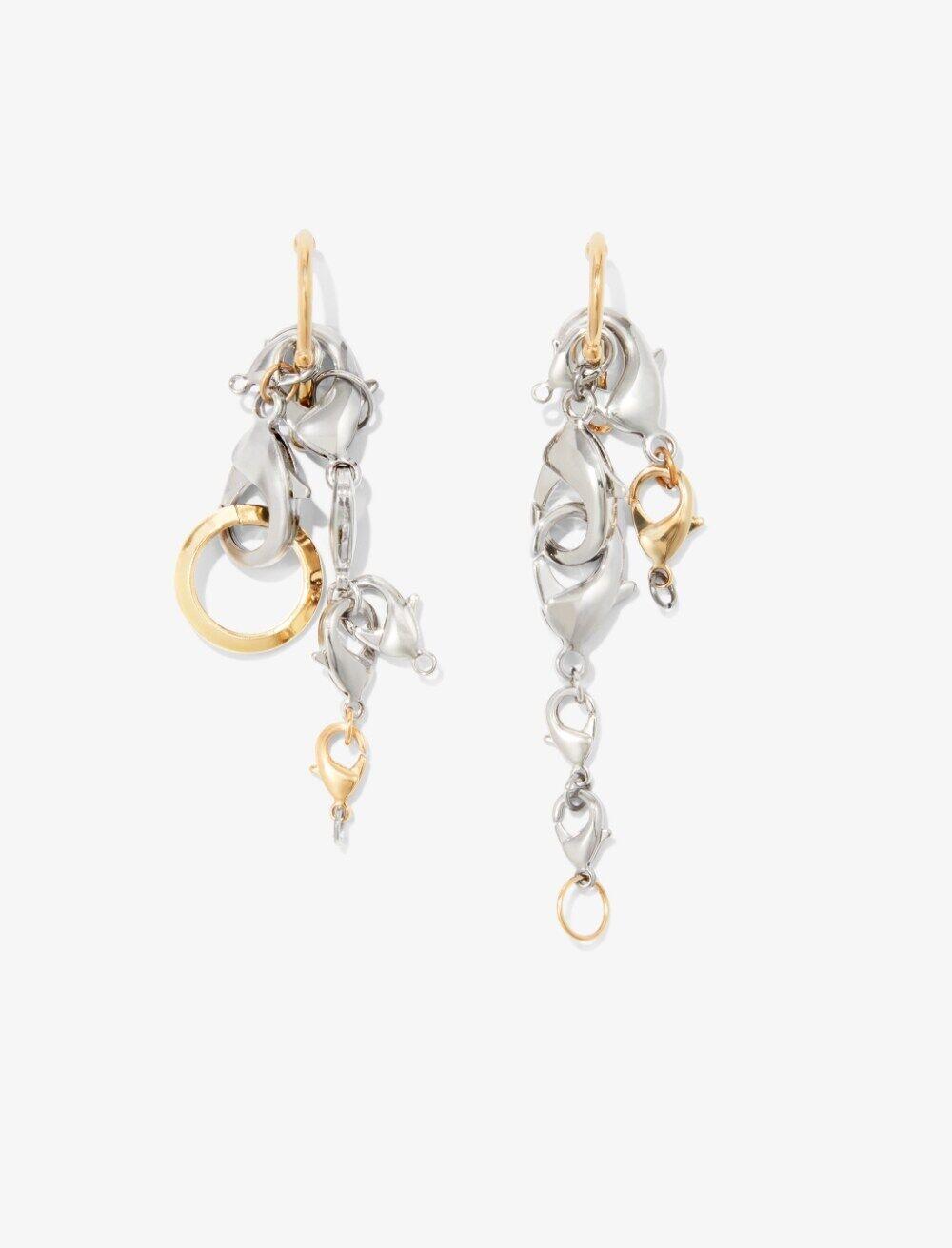 Proenza Schouler Chain Earrings multi/silver One Size