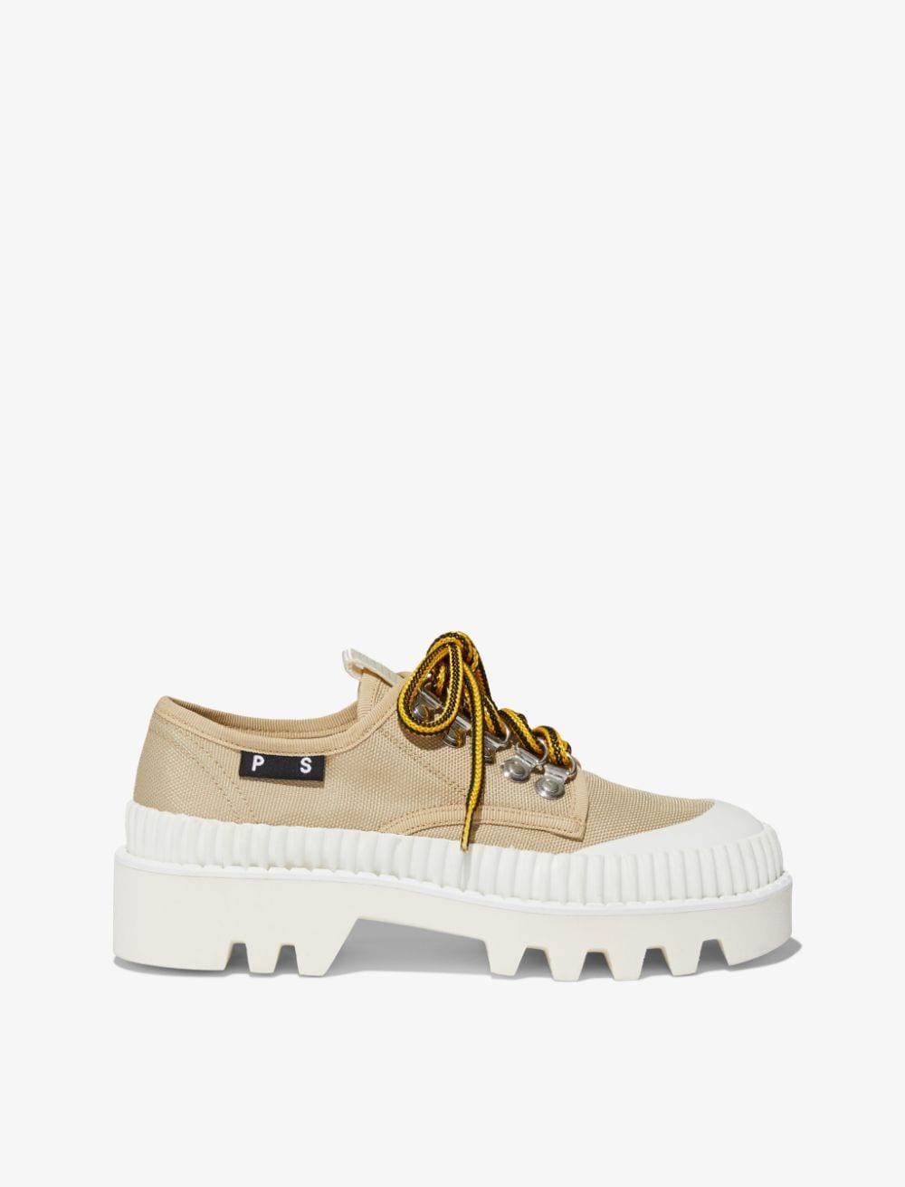Proenza Schouler City Lug Sole Shoes beige + white/neutrals 36