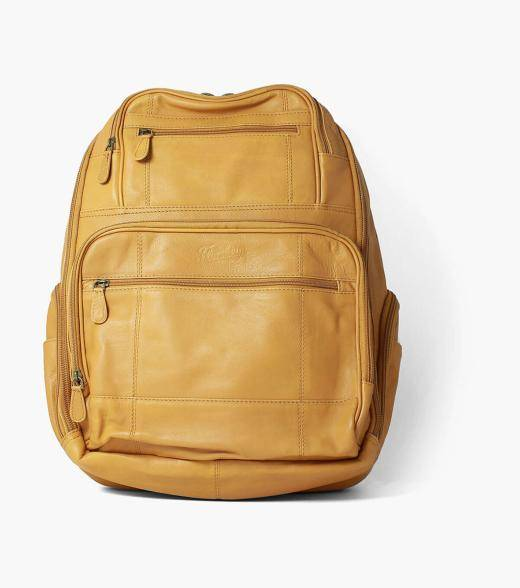 Florsheim Baptiste Baptiste Leather Backpack Men's Bag Accessories  - Tan - Size: One Size