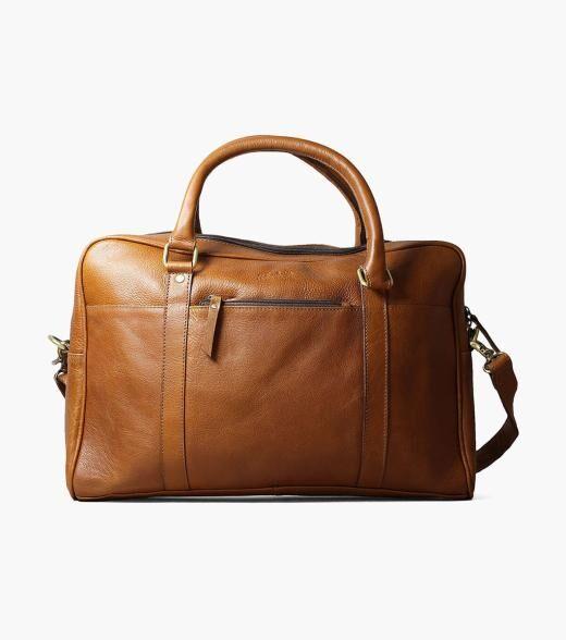 Florsheim Porter Porter Leather Laptop Bag Men's Bag Accessories  - Black Cognac - Size: One Size