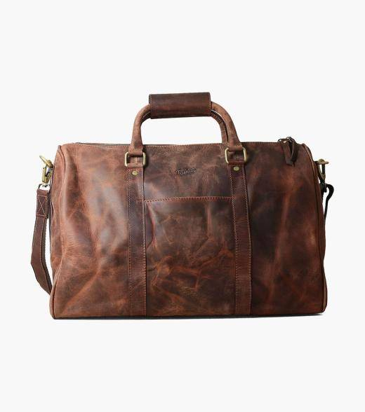 Florsheim Kendall Kendall Leather Gym Bag Men's Bag Accessories  - Black Brown - Size: One Size