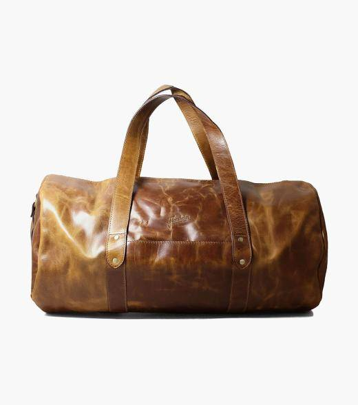 Florsheim Caruso Caruso Leather Travel Bag Men's Bag Accessories  - Brown - Size: One Size