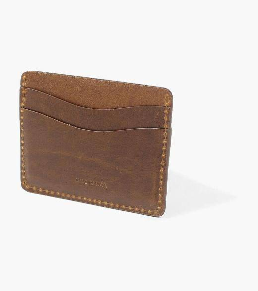 Florsheim Card Holder Card Holder Made in USA Men's Small Leather Goods Accessories  - Black Cognac