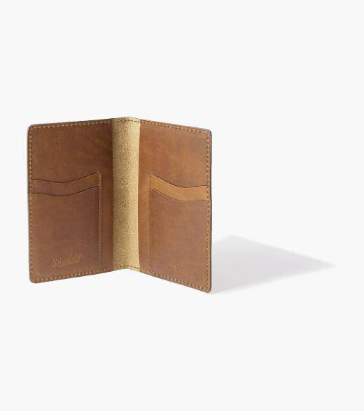 Florsheim Travel / Passport Wallet Travel/Passport Wallet Made in USA Men's Small Leather Goods Accessories  - Cognac