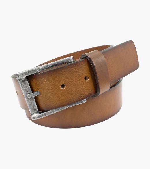 Florsheim Albert Albert Genuine Leather Belt Men's Belts Accessories  - Black Brown / Cherry Cognac - Size: 32, 34, 36, 38, 40, 42