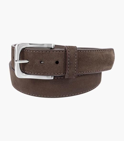 Florsheim Ramirez Ramirez Genuine Suede Belt Men's Belts Accessories  - Brown Gray Navy Sand - Size: 32, 34, 36, 38, 40, 42, 44