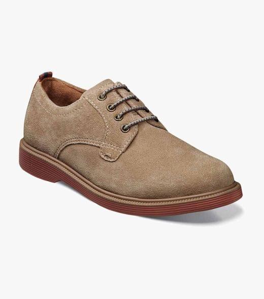 Florsheim Supacush Jr. Supacush Jr. Plain Toe Oxford Kid's Casual Shoes  - Black Black Suede Black Tumbled Brown CH Brown Tumbled Cognac Gray Suede Navy Navy Suede Sand White - Size: 10, 10.5, 11, 11.5, 12, 12.5, 13, 13.5, 1, 1.5, 2, 2.5, 3, 3.5, 4, 4.5, 5, 5.5, 6, 6.5, 7