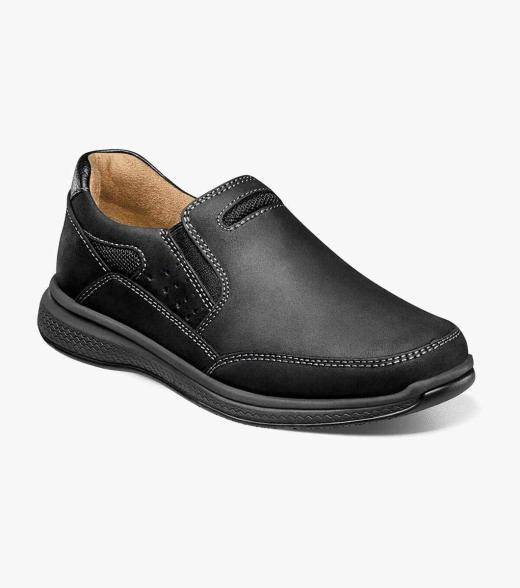 Florsheim Great Lakes Jr. Great Lakes Jr. Sport Slip On Kid's Casual Shoes  - Black CH Brown CH Stone - Size: 10, 10.5, 11, 11.5, 12, 12.5, 13, 13.5, 1, 1.5, 2, 2.5, 3, 3.5, 4, 4.5, 5, 5.5, 6, 6.5, 7