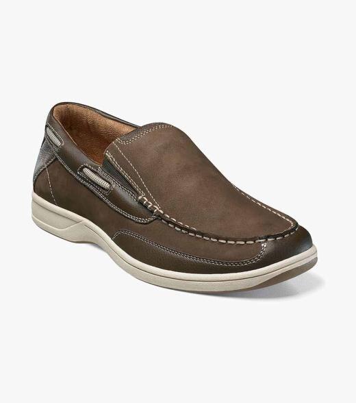 Florsheim Marina Marina Slip On Boat Shoe Men's Casual Shoes  - Brown - Size: 8, 8.5, 9, 9.5, 10, 10.5, 11, 11.5, 12, 13