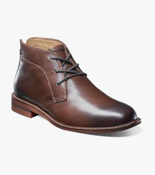 Florsheim Duane Duane Plain Toe Chukka Boot Men's Dress Shoes  - Brown - Size: 7, 7.5, 8, 8.5, 9, 9.5, 10, 10.5, 11, 11.5, 12, 13