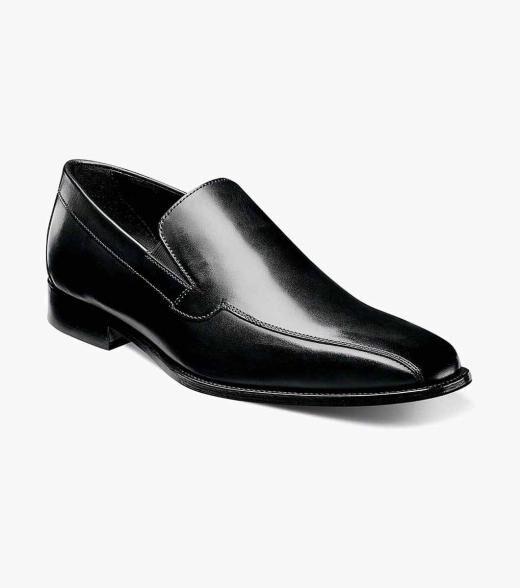 Florsheim Jacobi Jacobi Bike Toe Slip On Men's Dress Shoes  - Black - Size: 7, 7.5, 8, 9.5, 10, 10.5, 11, 11.5, 12, 13, 14
