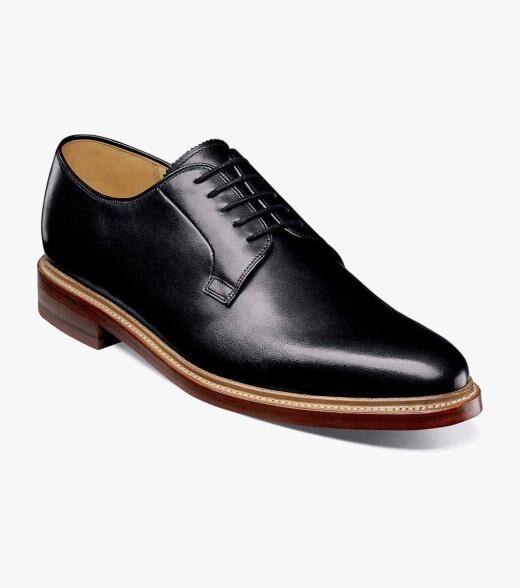 Florsheim Kenmoor II Kenmoor II Plain Toe Oxford Men's Dress Shoes  - Black Cognac - Size: 8, 8.5, 9, 9.5, 10, 10.5, 11, 11.5, 12, 13, 14