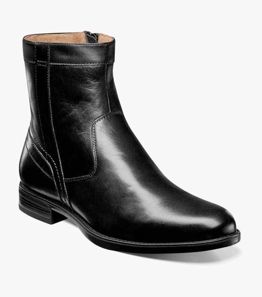 Florsheim Midtown Midtown Plain Toe Zipper Boot Men's Dress Shoes  - Black Brown - Size: 7, 7.5, 8, 8.5, 9, 9.5, 10, 10.5, 11, 11.5, 12, 13, 14, 15, 16