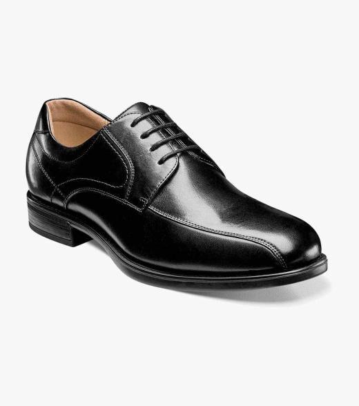 Florsheim Midtown Midtown Bike Toe Oxford Men's Dress Shoes  - Black Cognac - Size: 7, 7.5, 8, 8.5, 9, 9.5, 10, 10.5, 11, 11.5, 12, 13, 14