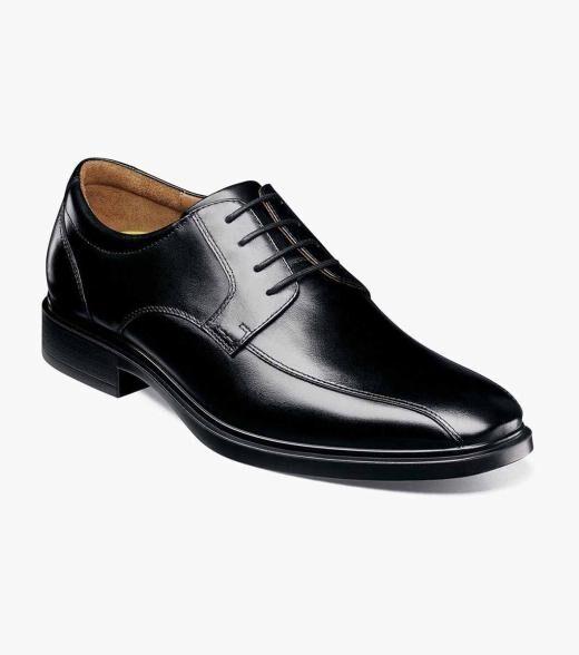 Florsheim Forecast Forecast Waterproof Bike Toe Oxford Men's Dress Shoes  - Black Cognac - Size: 7, 7.5, 8, 8.5, 9, 9.5, 10, 10.5, 11, 11.5, 12, 13