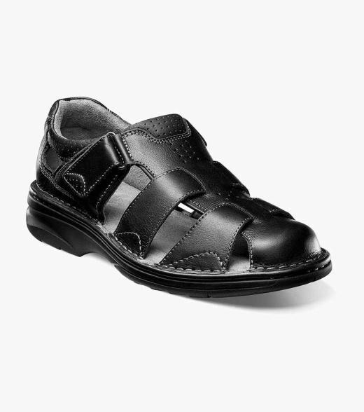 Florsheim Getaway Getaway Fisherman Sandal Men's Casual Shoes  - Black Brown - Size: 7, 7.5, 8, 8.5, 9, 9.5, 10, 10.5, 11, 11.5, 12, 13, 14