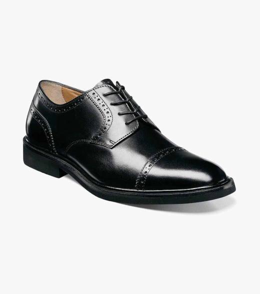 Florsheim Hamilton Hamilton Factory Second Men's Dress Shoes  - Black Cognac - Size: 8.5, 9, 9.5, 11