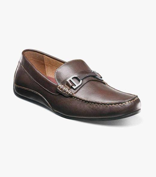 Florsheim Oval Oval Moc Toe Bit Driver Men's Casual Shoes  - Brown - Size: 7, 8, 8.5, 10, 10.5, 11, 11.5, 12, 13