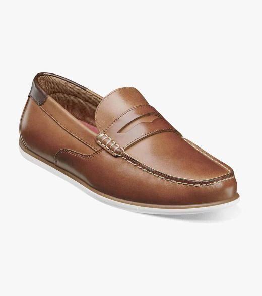 Florsheim Sportster Sportster Moc Toe Penny Driver Men's Casual Shoes  - Black Multi Brown Cognac - Size: 7, 7.5, 8, 8.5, 9, 9.5, 10, 10.5, 11, 11.5, 12, 13, 14