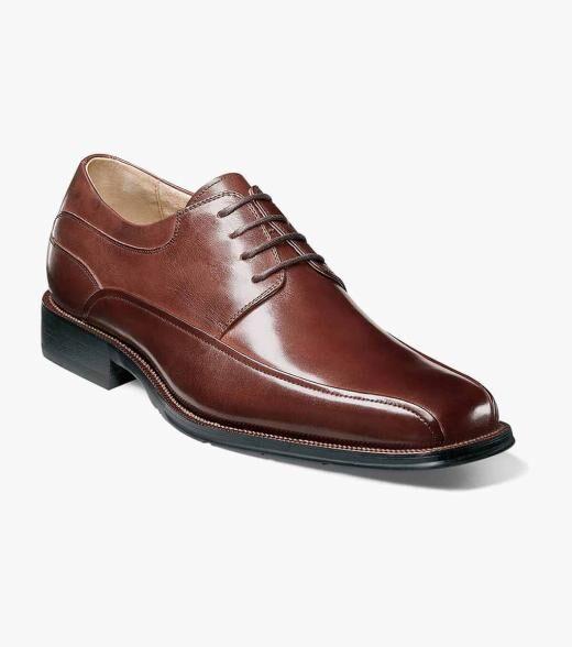 Florsheim Curtis Curtis Bike Toe Oxford Men's Dress Shoes  - Black Brown - Size: 8, 8.5, 9, 10, 11