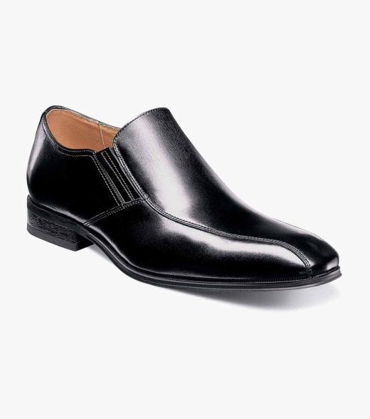 Florsheim Corbetta Corbetta Bike Toe Slip On Men's Dress Shoes  - Black - Size: 8, 8.5, 9, 9.5, 10, 11