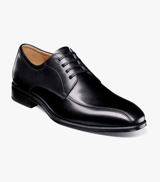 Florsheim Amelio Amelio Bike Toe Oxford Men's Dress Shoes  - Black Cognac - Size: 7, 7.5, 8, 8.5, 9, 9.5, 10, 10.5, 11, 11.5, 12, 13, 14