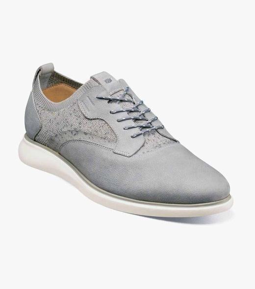 Florsheim Fuel Fuel Knit Plain Toe Oxford Men's Casual Shoes  - Indigo Light Gray Scotch - Size: 7, 7.5, 8, 8.5, 9, 9.5, 10, 10.5, 11, 11.5, 12, 13